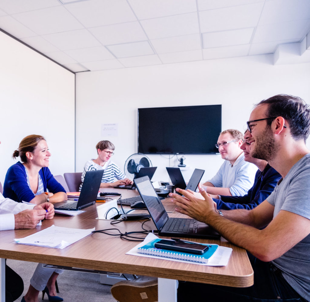 Voluntis team during a meeting